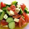 きゅうりとトマトのクリームチーズサラダ
