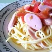 魚肉ソーセージとトマトの冷たいパスタ☆