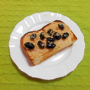 酒粕黒豆きな粉トースト