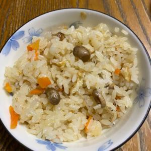 余った節分豆で炊き込みご飯♪