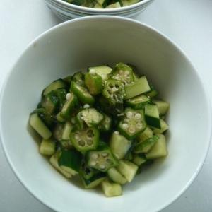 夏の緑野菜で作る「だし」