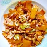 カボチャと豚肉の甜麺醤炒め