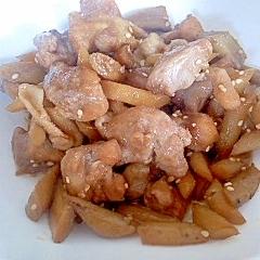 鶏肉とごぼうのあっさり煮
