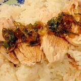 炊飯器で海南チキンライス