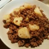 簡単◎ジャガイモとひき肉炒め
