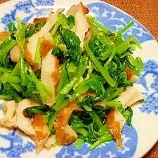 楽天小松菜と竹輪の生姜醤油和え