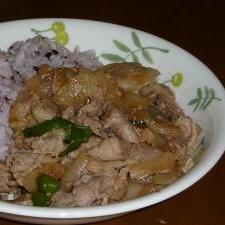 豚の生姜焼き風