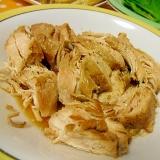 鶏むね肉のチャーシュー風煮 圧力鍋使用