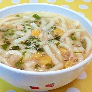 【離乳食】鮭缶&コーンの煮込みうどん