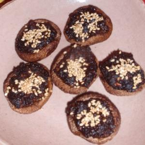 椎茸の胡麻味噌焼き