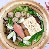 秋鮭、あさり、とりごぼうの鍋物