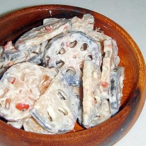 れんこんの梅塩昆布マヨサラダ