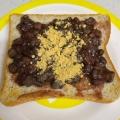 クリームチーズときな粉で  あんこトースト