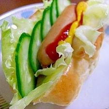 ウインナーと野菜のロールサンド