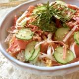 ★焼き塩鮭とカニカマのシンプルちらし丼★