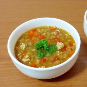 熱々でも、冷ましても美味しい♪レンズ豆スープ