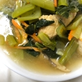 小松菜とがんもどきの煮物♬