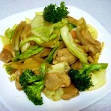 ニンニクしそ醤油で野菜炒め