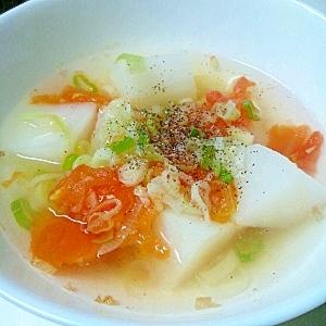 トマトと大根の和風スープ