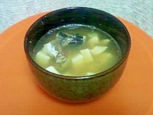 豆腐とサバの手抜き汁