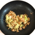 ツナとキャベツの簡単炒飯