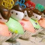 ひな祭り蒸しケーキ