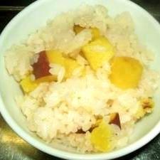 ホクホク甘い、サツマイモご飯