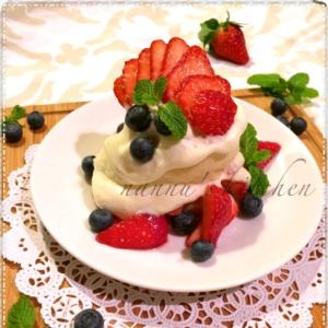 手作りビスケットで♪アメリカンな苺ショートケーキ