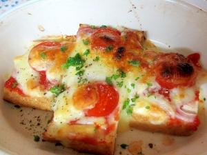 厚揚げのピザ焼き
