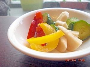 簡単、新鮮、おいしい、野菜のめんつゆ漬け