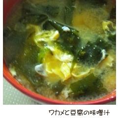 ワカメと豆腐のお味噌汁