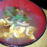 干し椎茸の香りいっぱい!とき卵の中華スープ