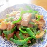 豚バラ筍ピーマン生姜炒め