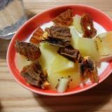 リンゴ・干し柿・キウイのヨーグルト