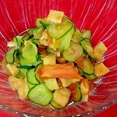 薄揚げと胡瓜の酢の物