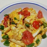 簡単 ! ミニトマトとピーマンとエリンギの卵炒め