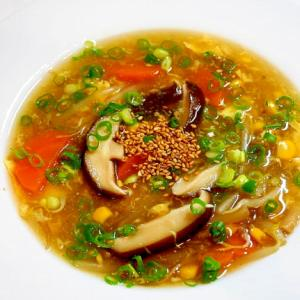 心から温まる!コーンとシイタケのスープ