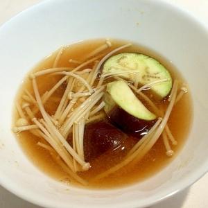 ささっと作る☆茄子とえのきのお味噌汁