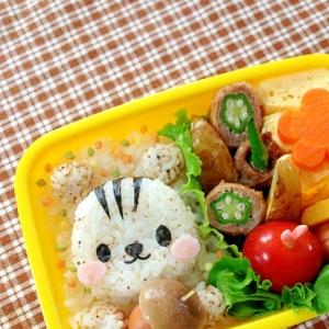 簡単キャラ弁☆秋のお弁当に!リスくんのお弁当♪