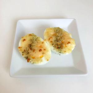 お弁当 付け合わせに ゆでたまごのチーズのせ焼き♪