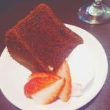 バレンタイン★しっとり大人の生チョコシフォンケーキ