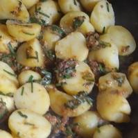 ジャガイモのニラ味噌煮