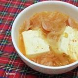 豆腐と春雨のキムチスープ