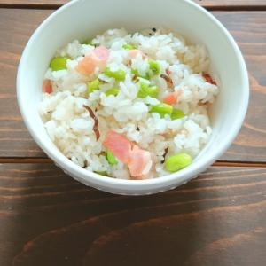 ベーコンと枝豆の塩昆布チャーハン
