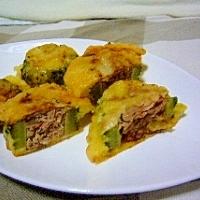 ゴーヤの肉詰め天ぷら