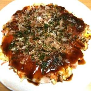納豆チーズお好み焼き