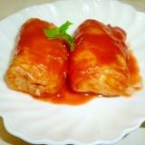 豚ロースとチーズのロール白菜トマト味♪