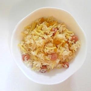 魚ニソとつぼ漬のスパ飯