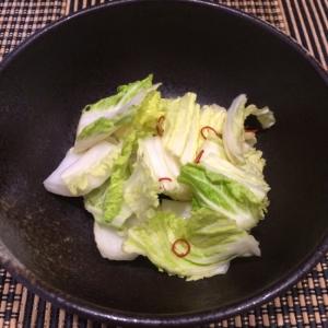 鍋の残りの白菜で、《白菜の漬け物》♡♡♡