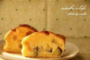 林檎とさつま芋のパウンドケーキ
